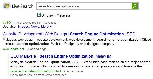 msn serp ranking